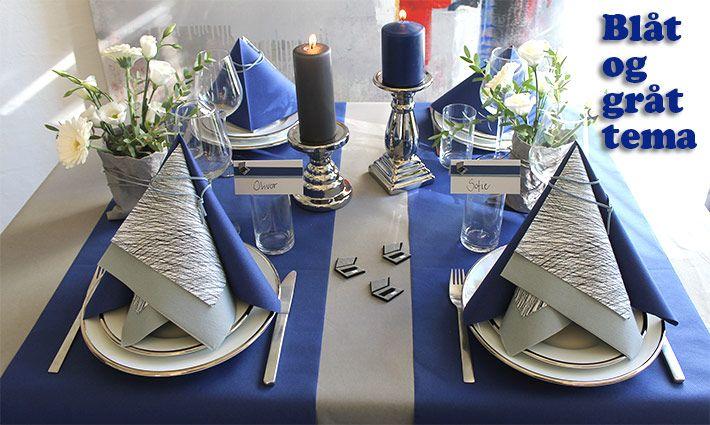 borddækning konfirmation blå