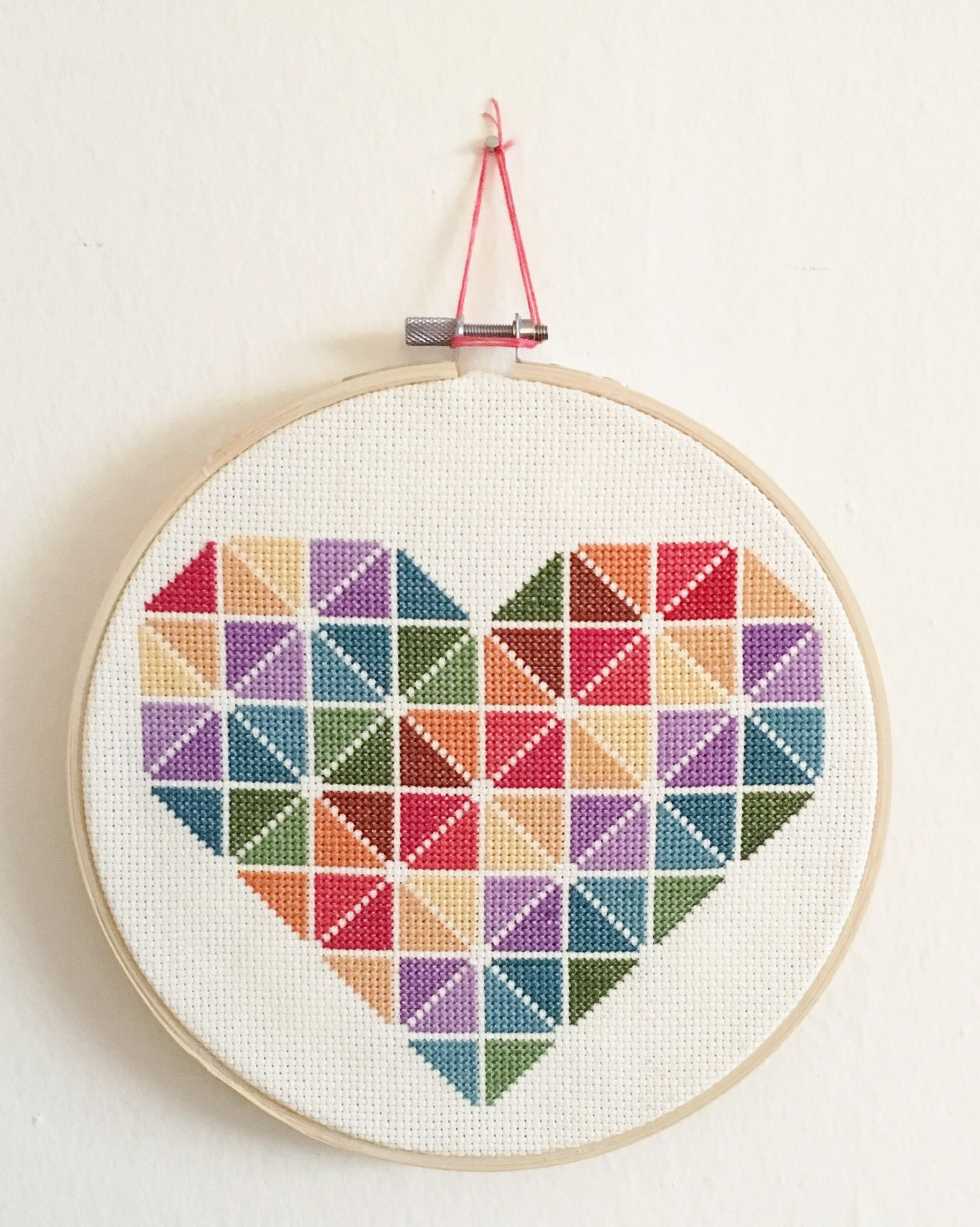 Rainbow heart diy cross stitch kit do it yourself kit colorful rainbow heart diy cross stitch kit do it yourself kit colorful heart solutioingenieria Choice Image