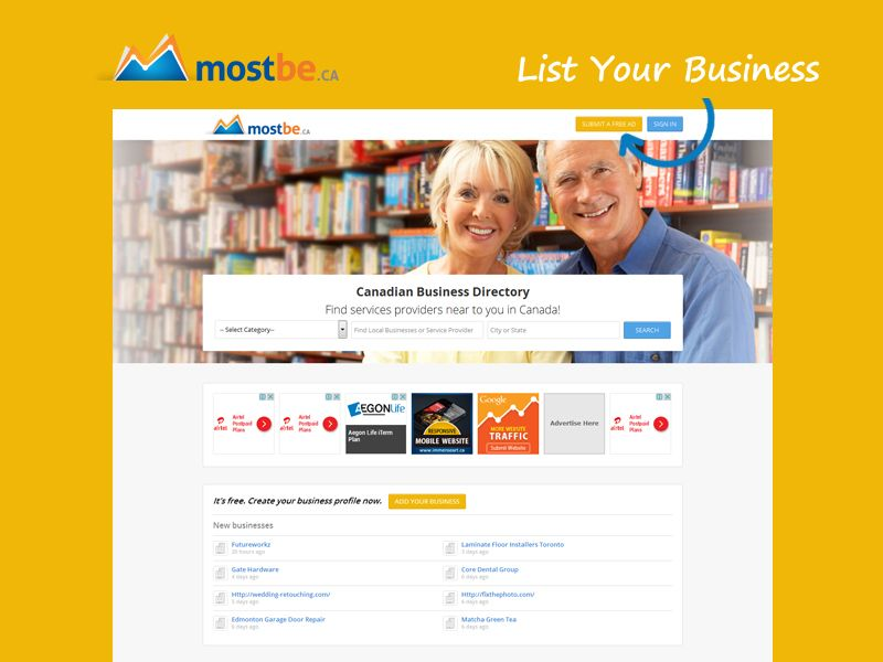 Mostbe Free Business Directory Toronto Ontario Canada Local Listing Sites Provide Many Benefits To Online Business Online Business Profile Online Business