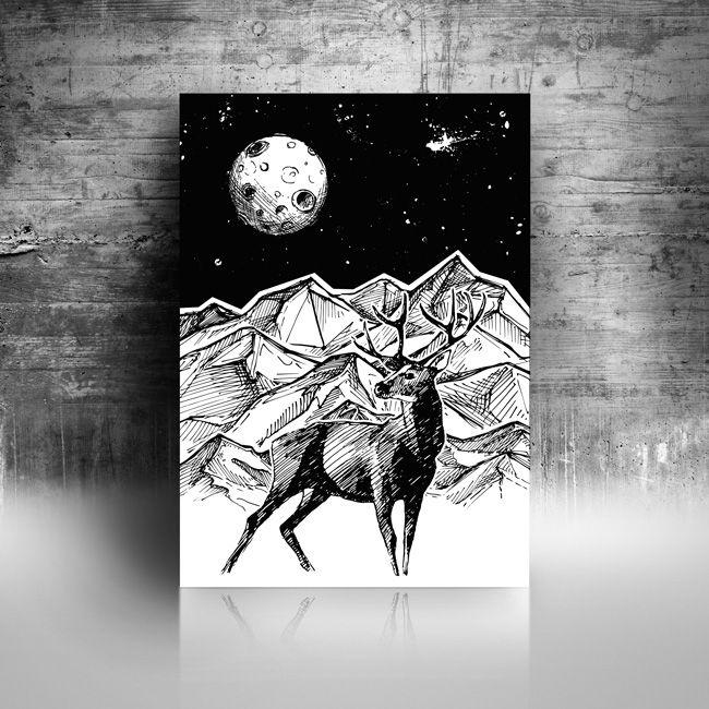 Online Store Www Hogstudio Com Pl Hogstuio Geometric Deer