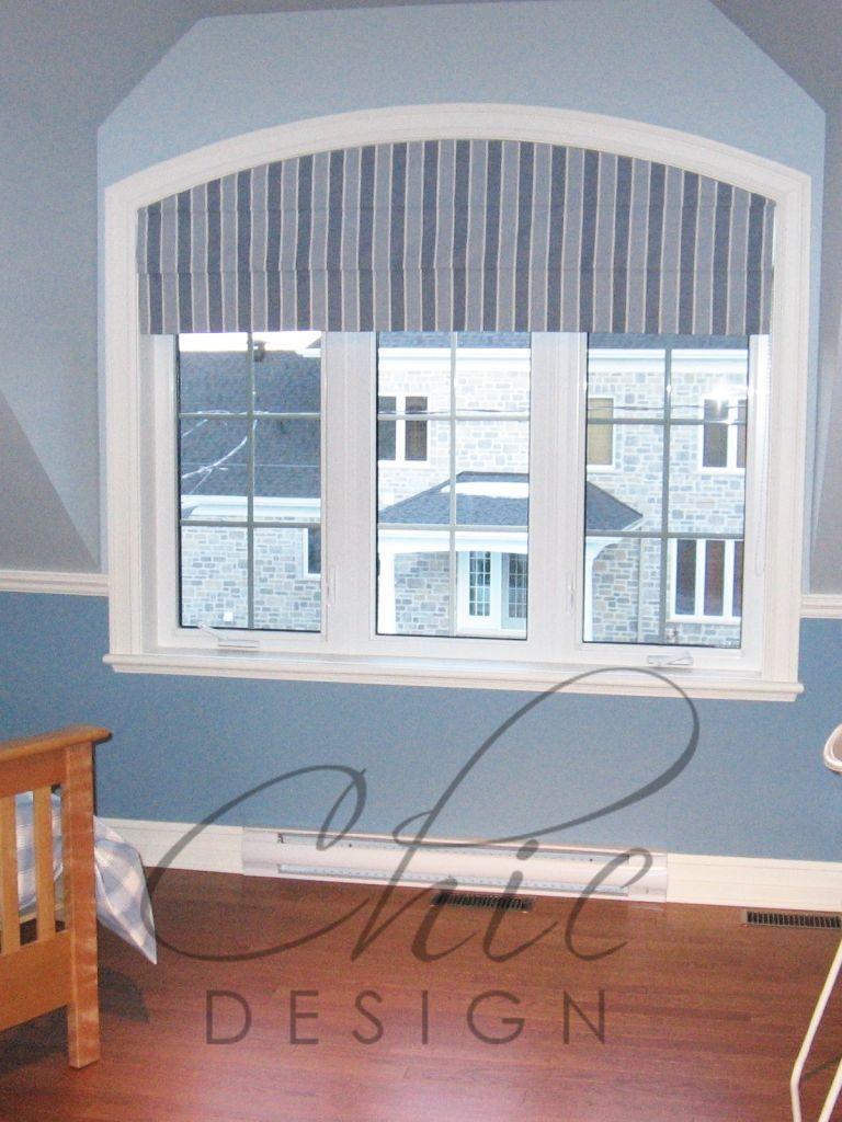 Window dressing ideas for arched windows  roman shade for arch window  bedroom ideas  pinterest  window