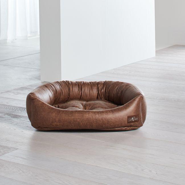Ner Faux Leather Vintage Medium Dog Bed Crate And Barrel