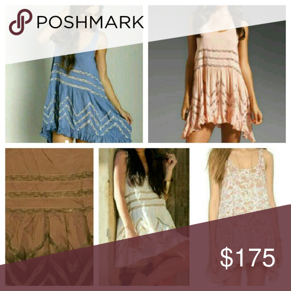 5 trapeze dresses 5 free people trapeze dresses, all new, or great condition! Blue, blush, brown ombre, tea, and paisley.  Get this discounted bundle! Price firm! Free People Dresses