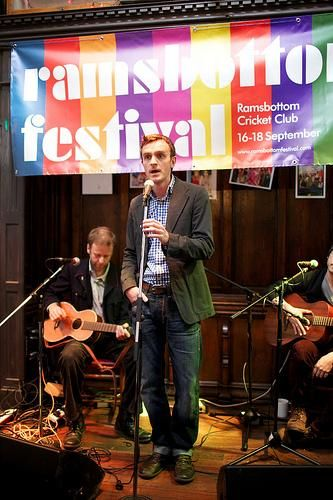 Director David Agnew giving a speech at our launch party at The Castle Hotel in May 2011