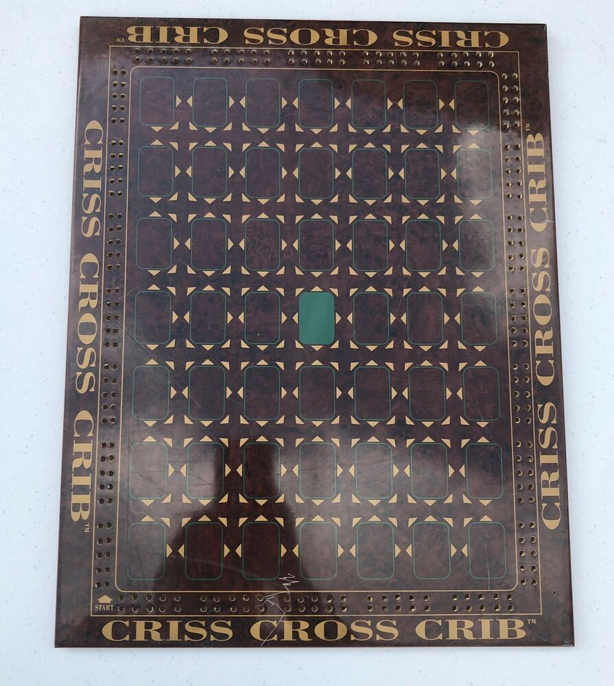 Older Criss Cross Crib Lacquer Board Game Board Only 17 3