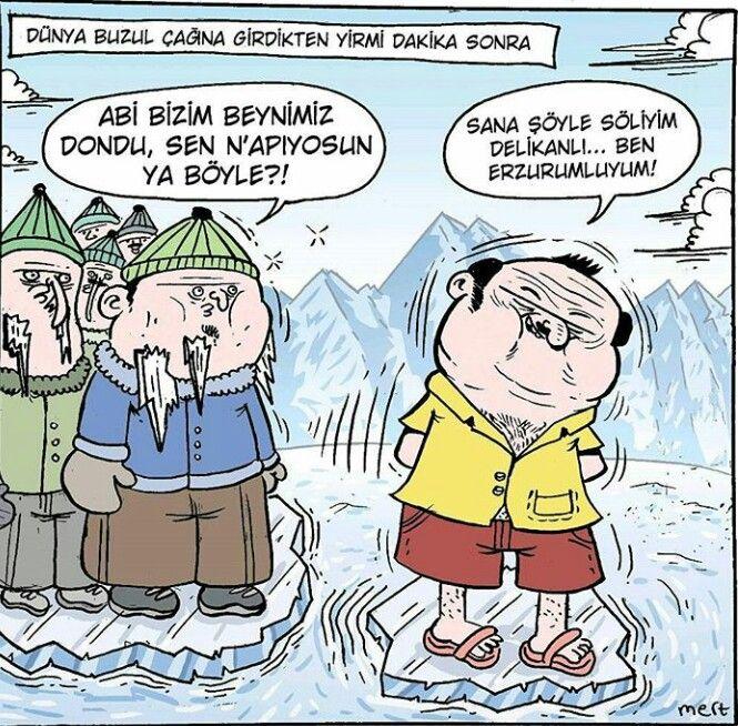 Laz Ayagi Adli Kullanicinin Karikatur Panosundaki Pin Komik Karikatur Ve Guzel Soz
