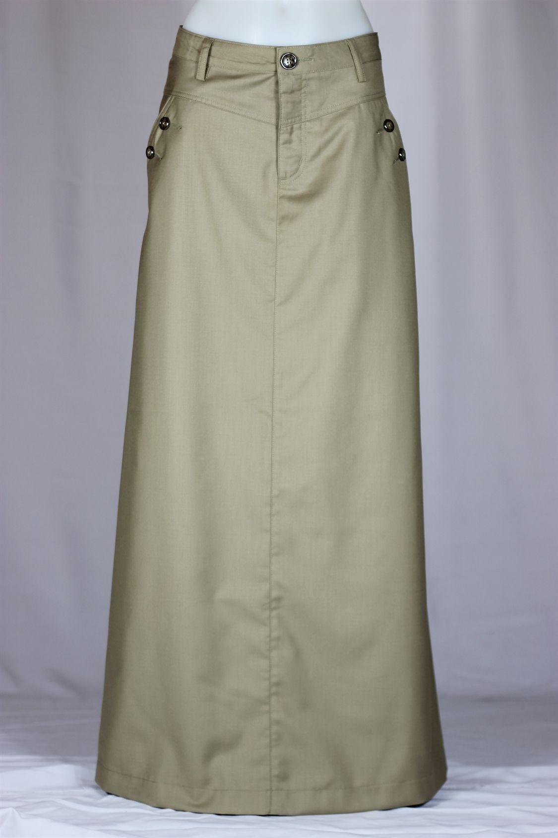 d7f3891333 Just Chic Long Khaki Skirt, Sizes 6-18 | If I Had Style | Long khaki ...