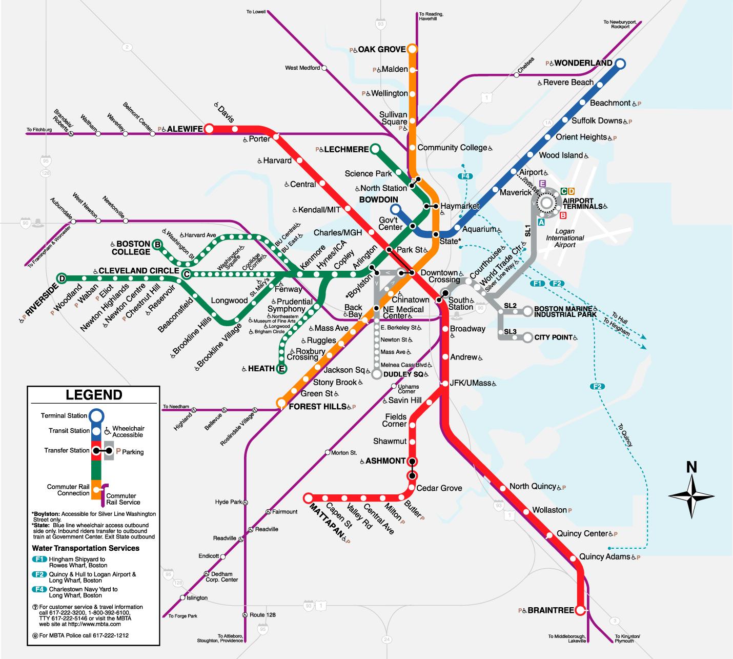 Boston T Map | metro maps | Pinterest | Subway map, Public transport ...