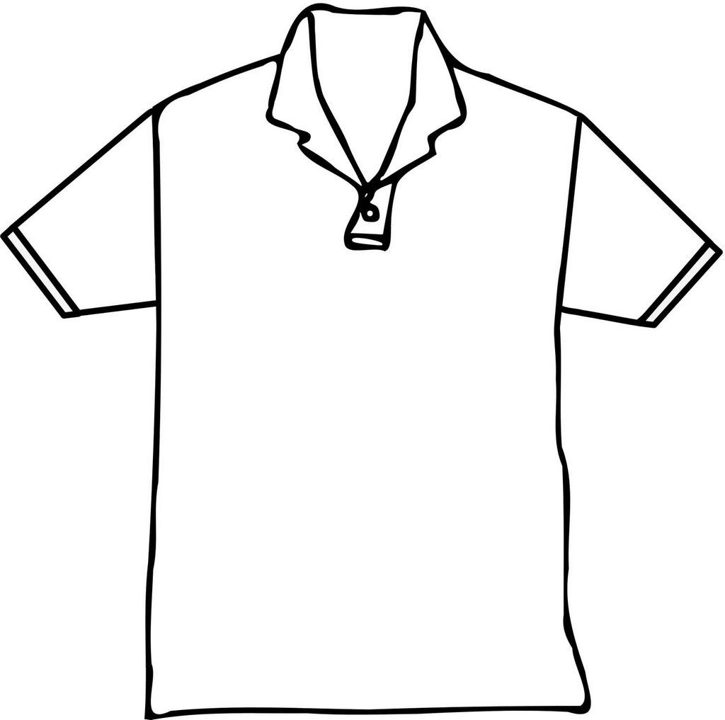 Polo T Shirt Short Coloring Page Polo T Shirts Coloring Pages T Shirt