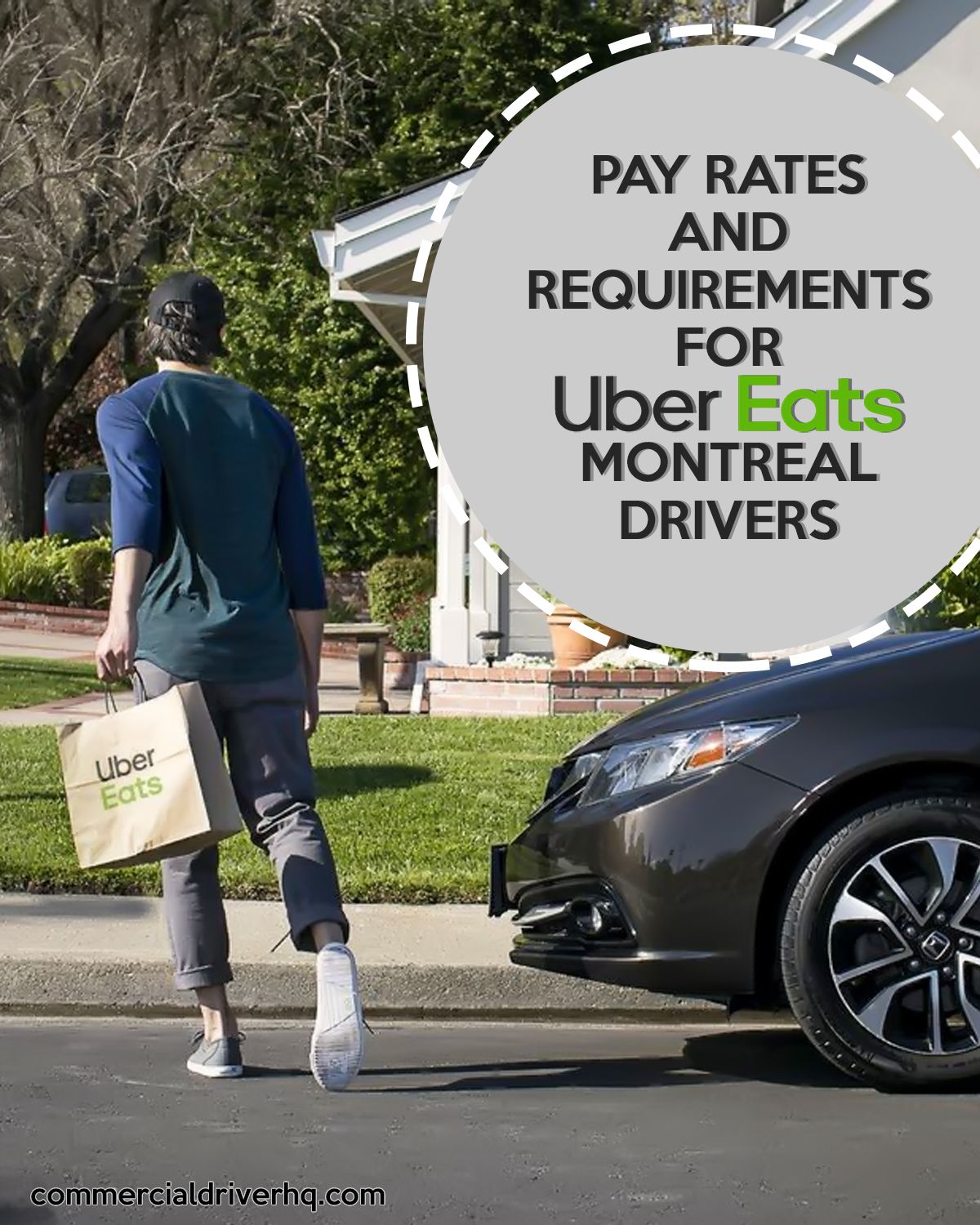 Pay rates and requirements for ubereats montreal drivers