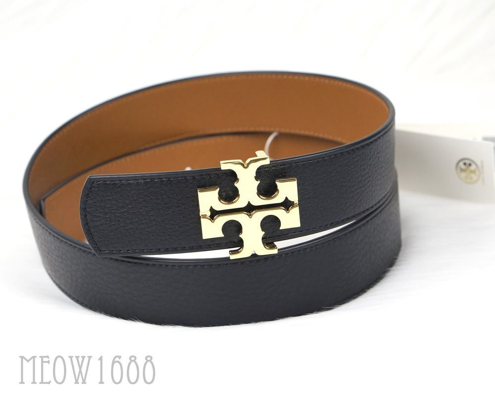 7375000e018b Tory Burch. Reversible Logo Belt. - Reversible Logo Belt pulls double duty  with a different shade on each side. Simply twist the pin of the buckle off  to ...