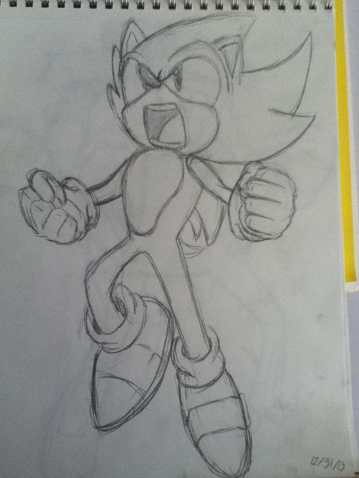 Super Sonic The Hedgehog Drawing Desenhos De Anime Desenhos Do Sonic Desenhos