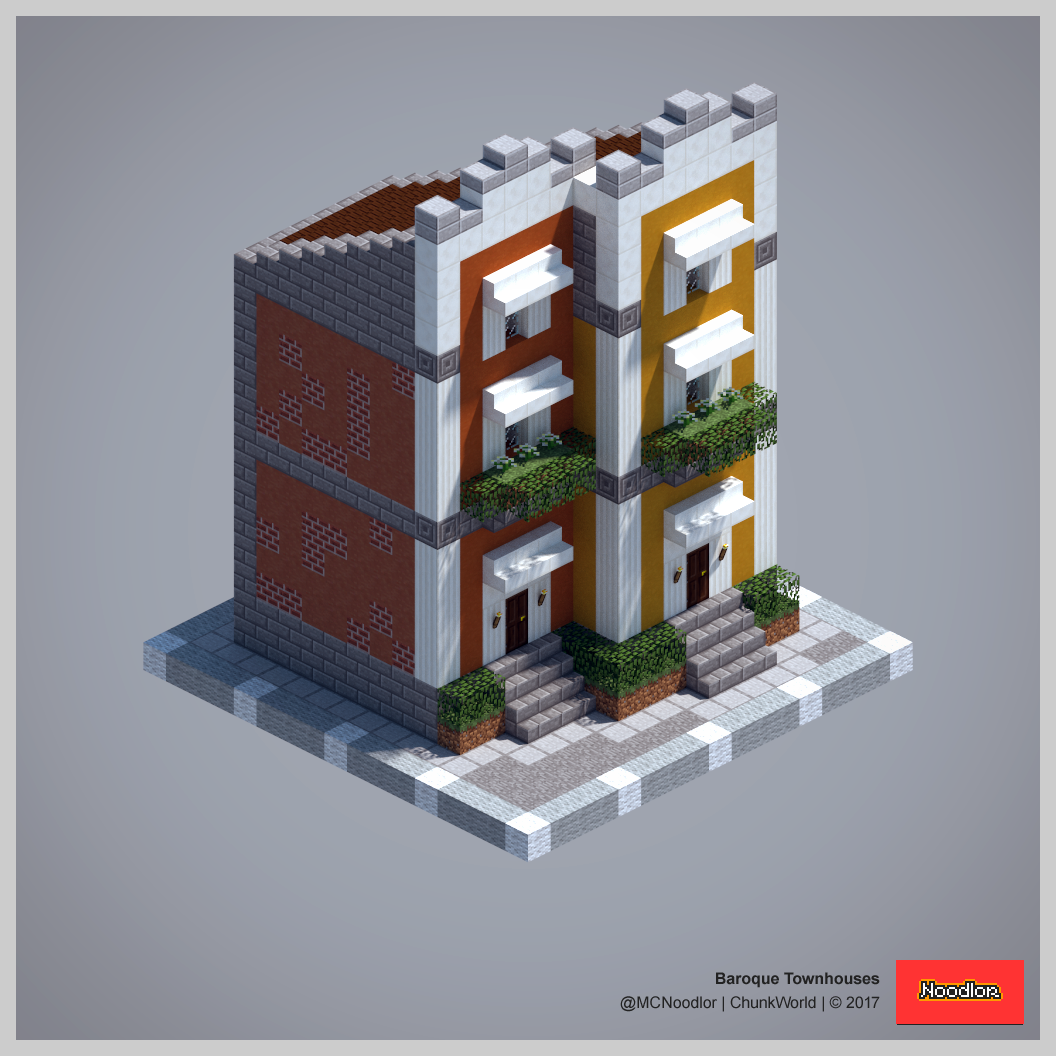 2017 chunkworld redux townhouse minecraft ideas and for City house plans