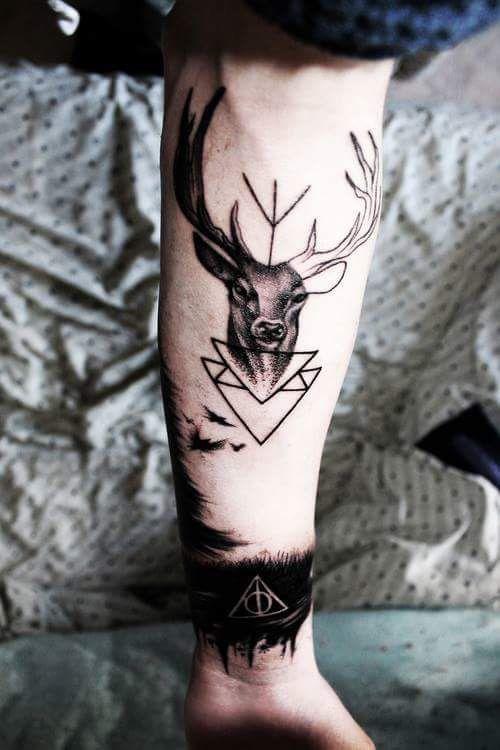 Harry Potter Style Tattoo Harrypotter Hpstyle Tattoo Deer Hptattoo Magic Patronus Hogwarts Tattoos Trendy Tattoos Classy Tattoos