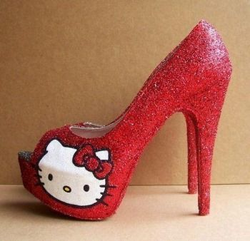 Zapatos rojos Hello Kitty infantiles YfGVgsi