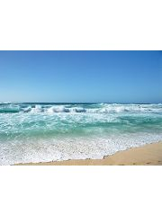 George Home Blue Waves Canvas Wall Art