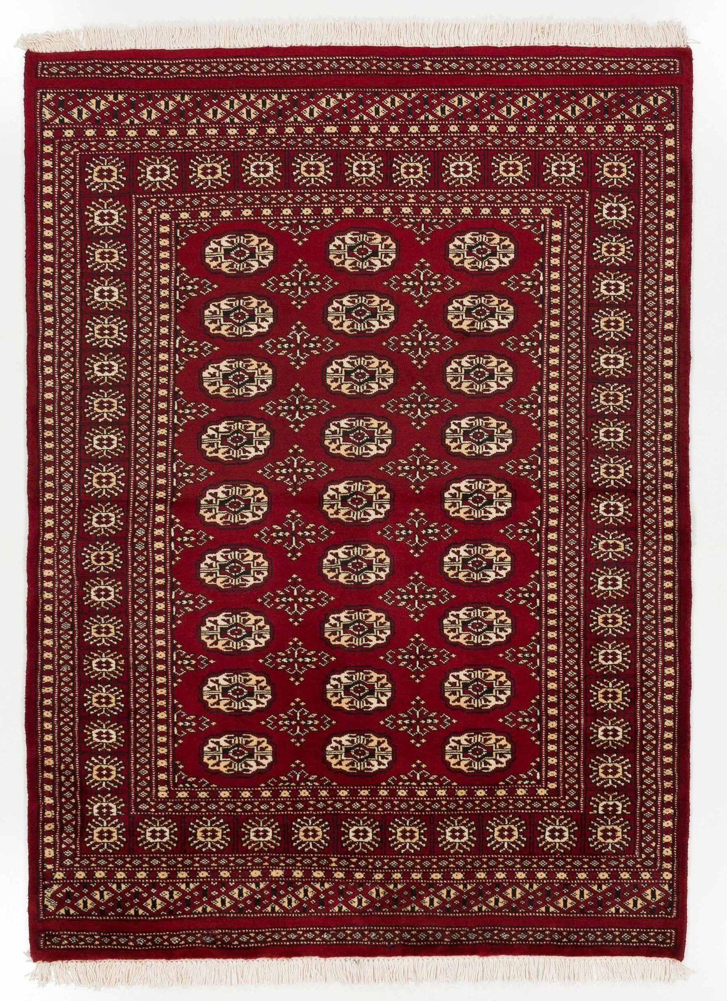 4x6 Red Bokhara Oriental Rug