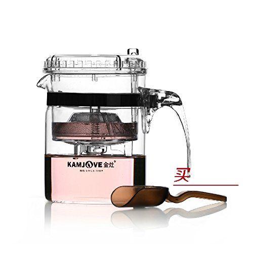 Kamjove Glass Gongfu Teapot Press Art Tea Cup Teapot With Filter
