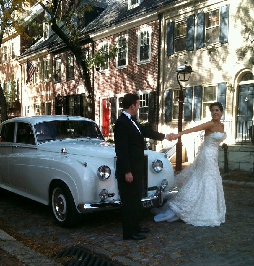 Historic Olde City Philadelphia A 62 Rolls Royce Silver Cloud Ii And Two Newlyweds