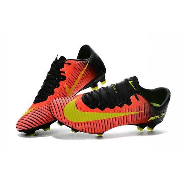 Nike Mercurial Vapor 11 Fg Pas Cher Chaussures Football Carmin Volt Rose Nike Football Vapor