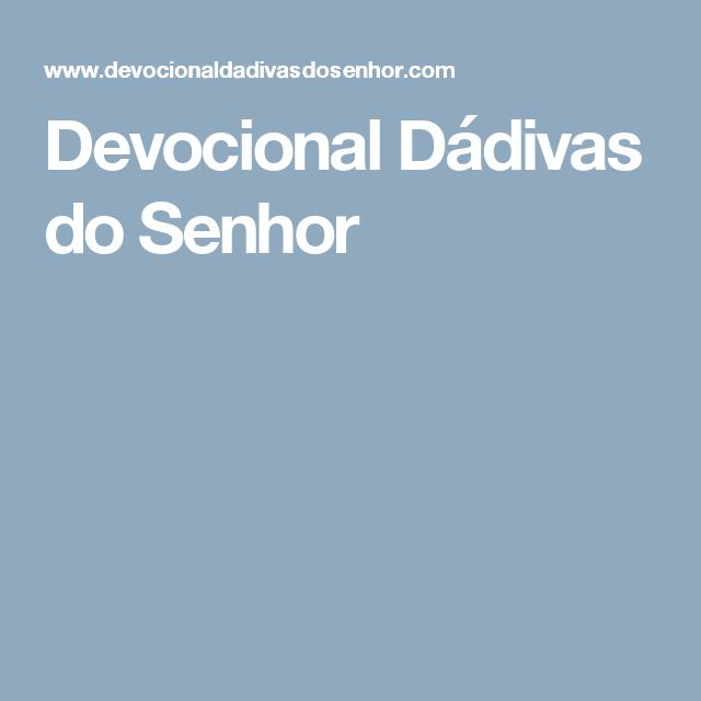 Devocional Dádivas do Senhor
