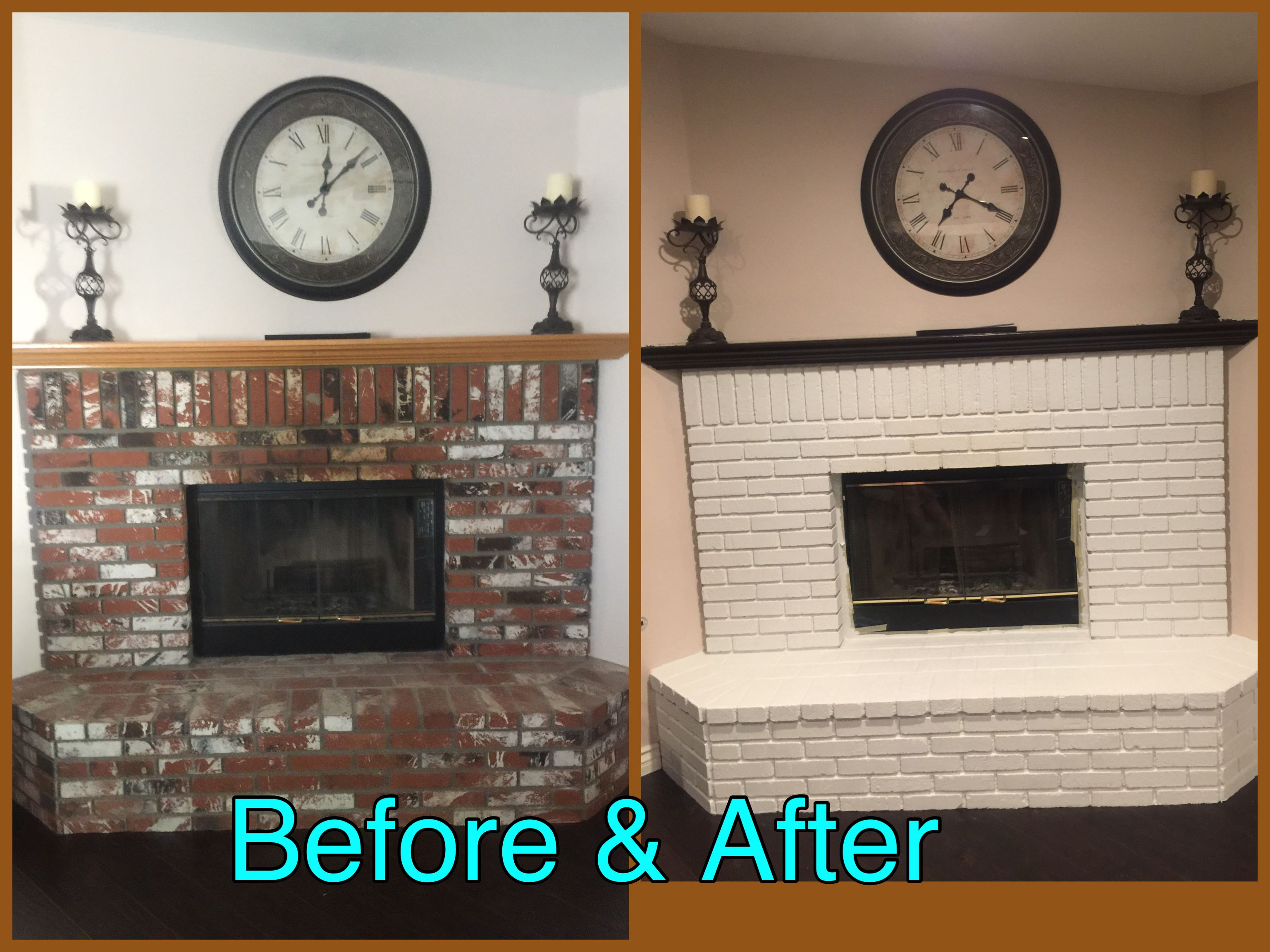 Fireplace Remodel Before & After DIY Projects