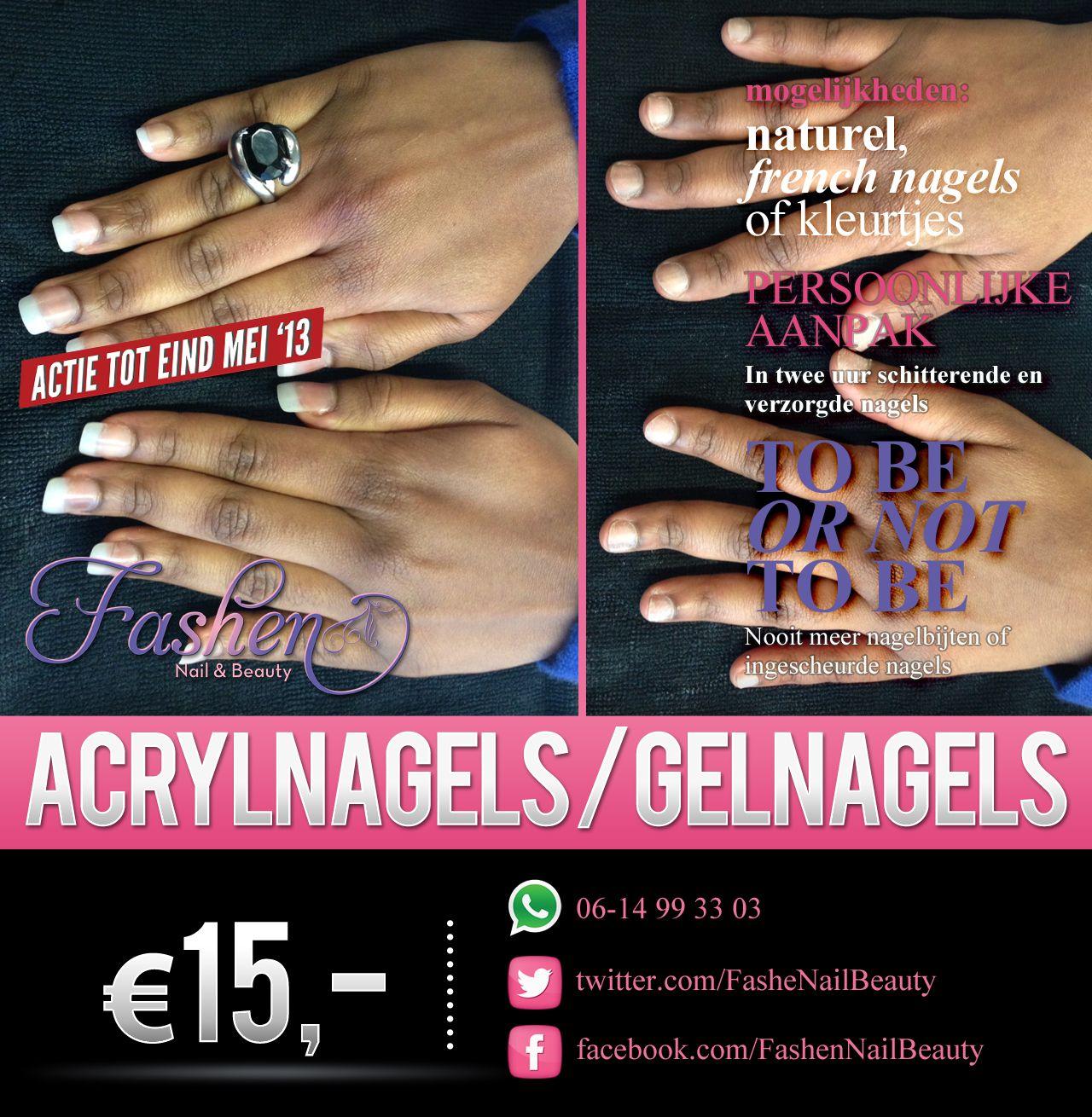 Acryl nagels - Before & After  Maak een afspraak in de maand MEI en geniet van een nagelbehandeling voor maar €15. U kan kiezen uit Naturel nagels, French nagels of een mooie kleur nagellak. Boekt u direct een vervolgafspraak dan is dit voor maar €10.   Een afspraak maakt u via jansenshanelly@gmail.com of u kunt bellen met 06-14993303  Locatie: Zwolle en omgeving!