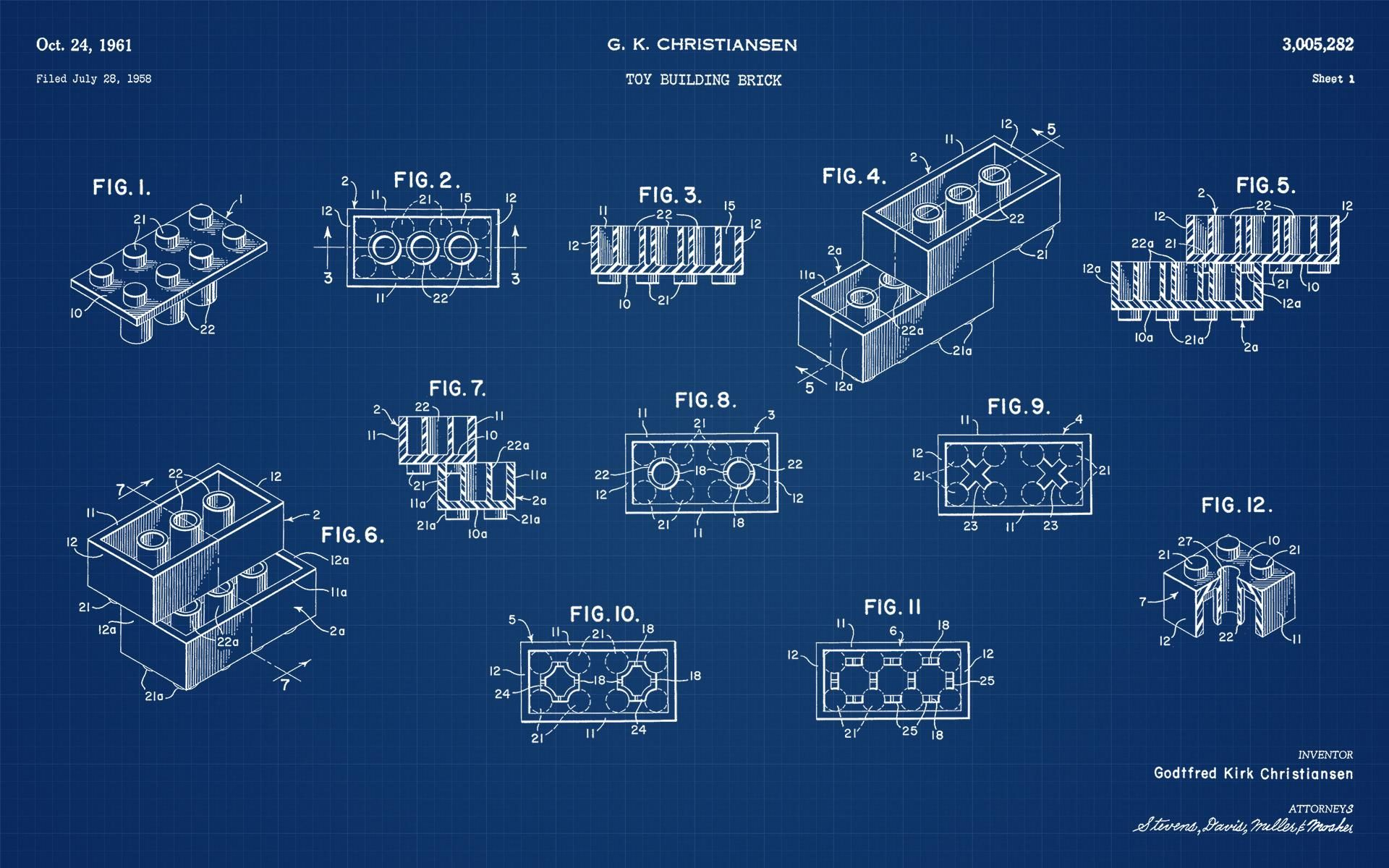 Legos original patent blueprint ed would make a cool poster legos original patent blueprint malvernweather Images