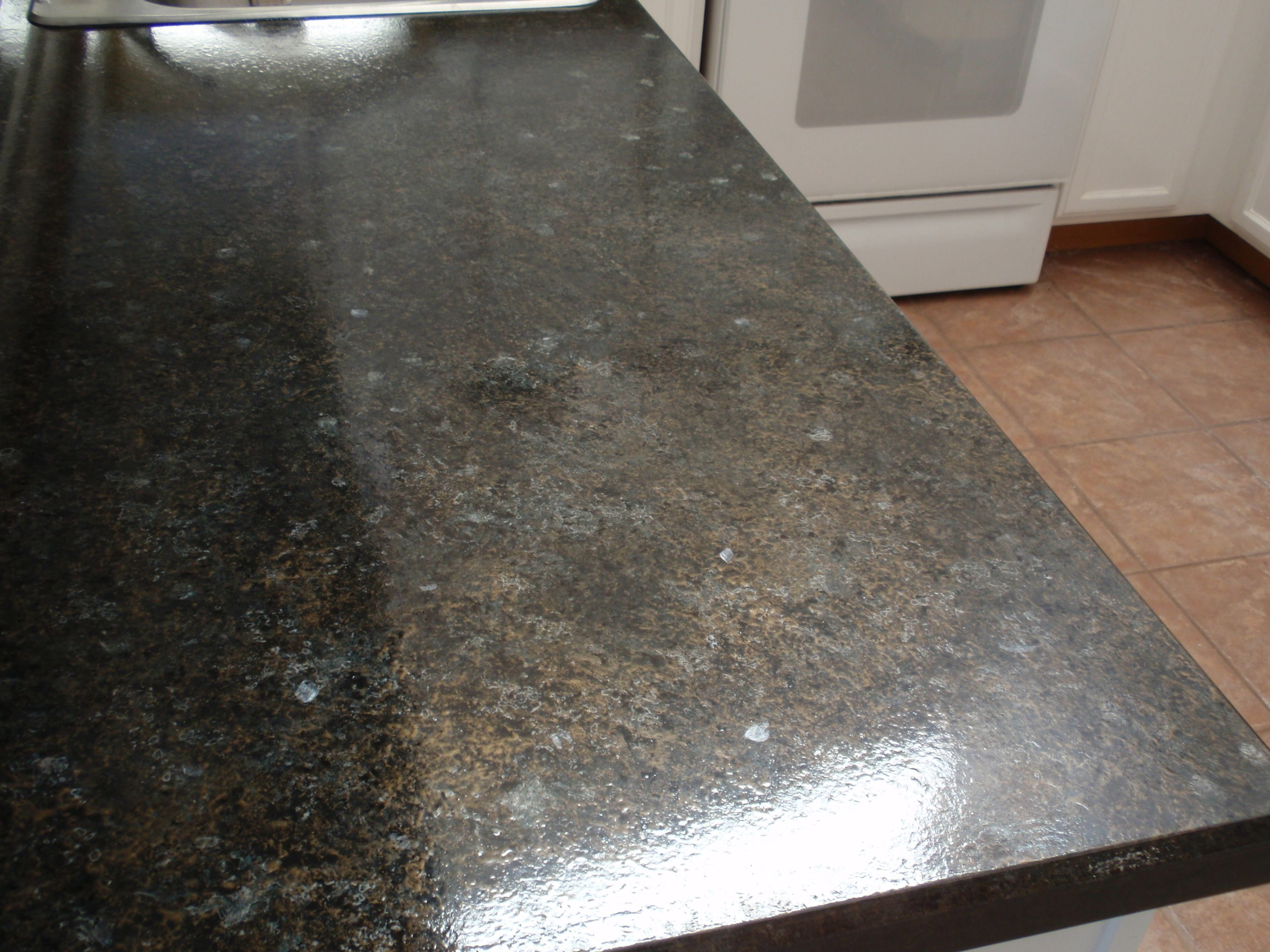 Granite Paint For Countertop Goes Over Old Formica