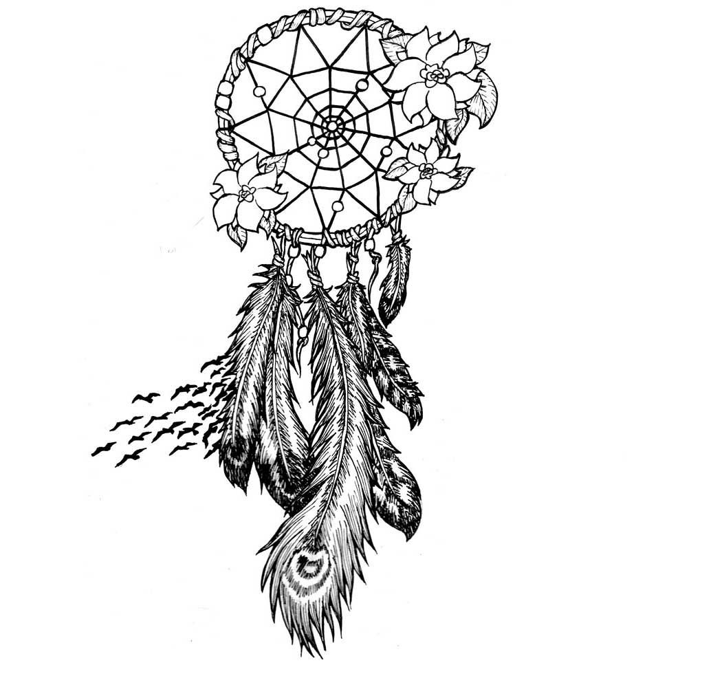 Wolf mandala coloring pages - Dreamcatcher Mandala Coloring Pages