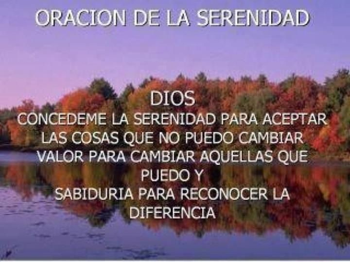 Oracion De La Serenidad Inspirational Quotes Meaningful Quotes Quotes To Live By