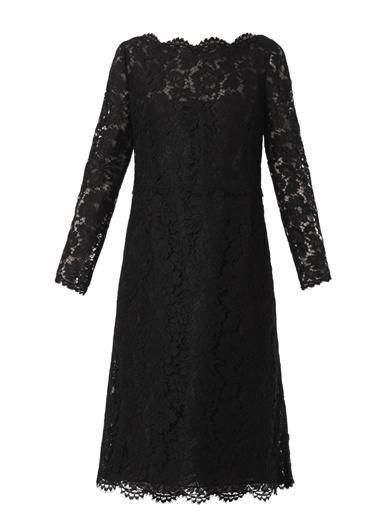 Valentino Long-sleeved lace dress
