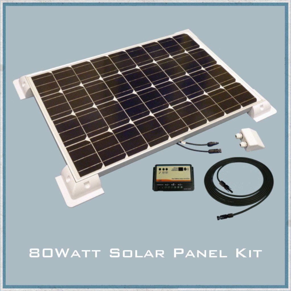 80w solar panel caravan motorhome kit solar panels