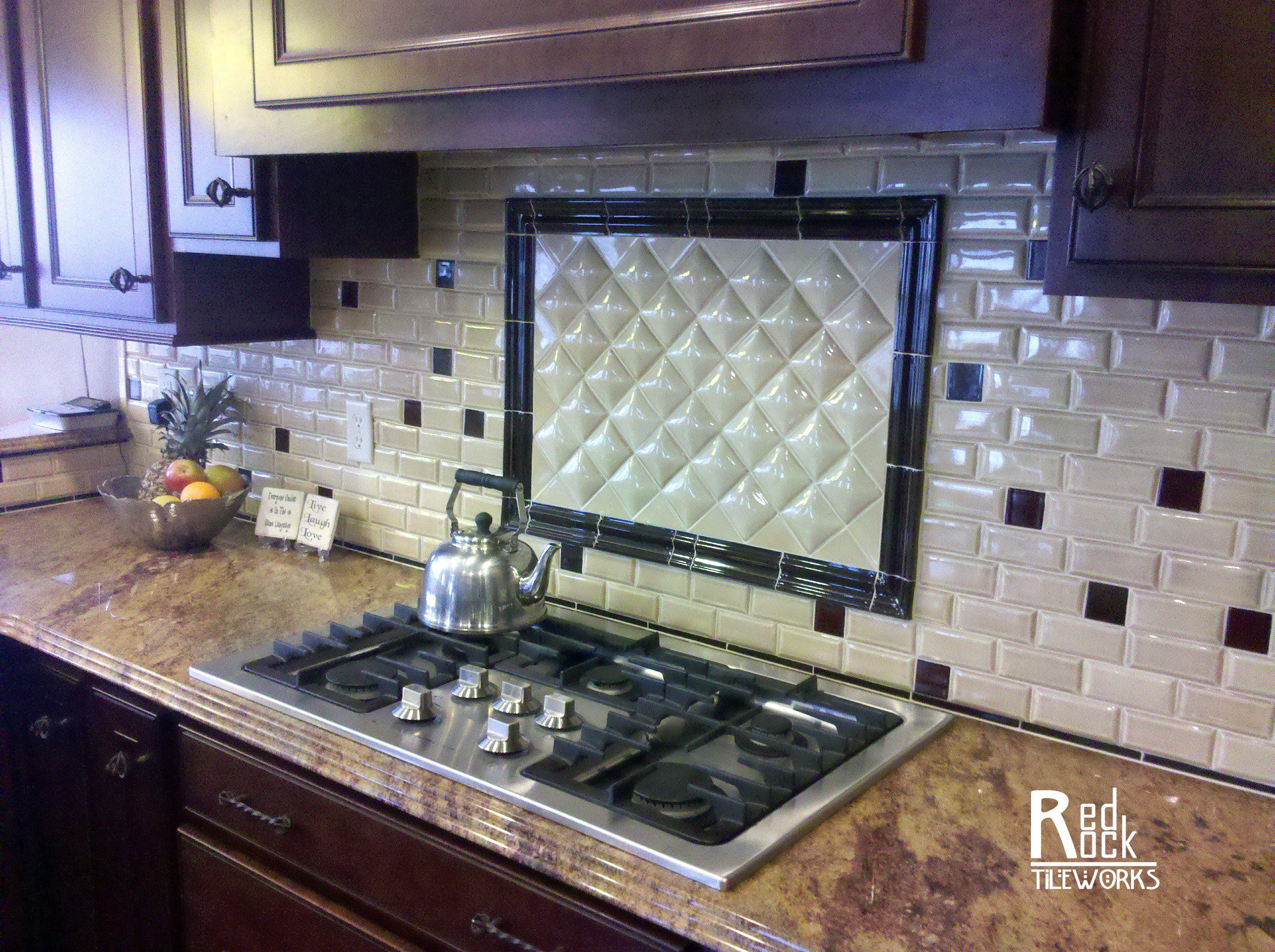 tile backsplash kitchen appliances