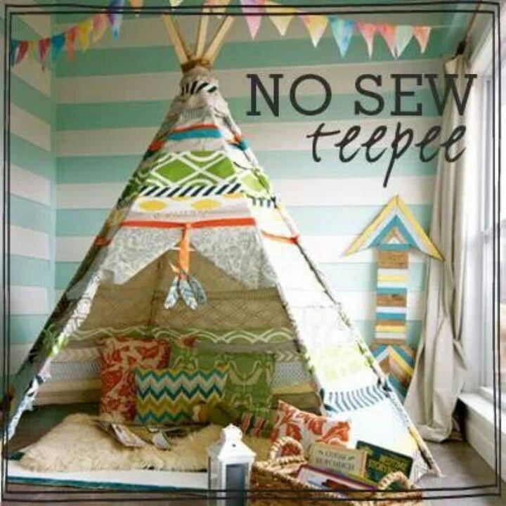 No sew teepee | Children s furniture | Pinterest