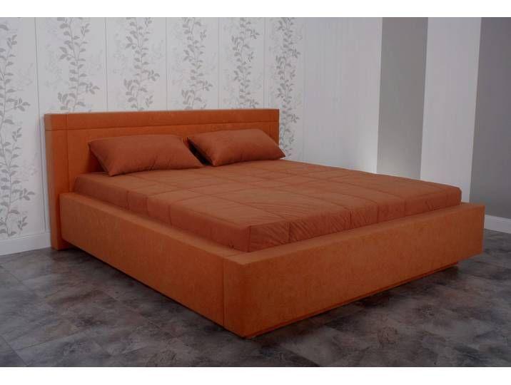 Photo of Westfalia sleeping comfort upholstered bed, with bed box, orange, 190 cm x