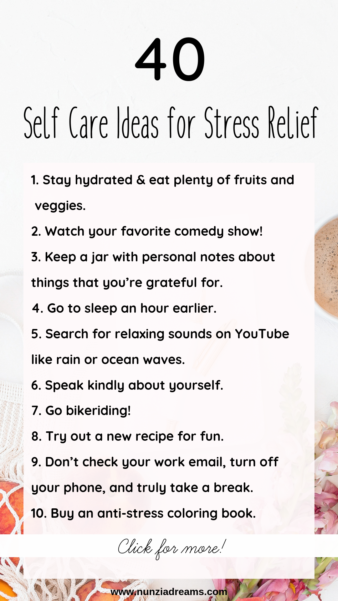 100 Self Care Ideas For Your Mind Body Soul Nunziadreams Self Care Self How Are You Feeling