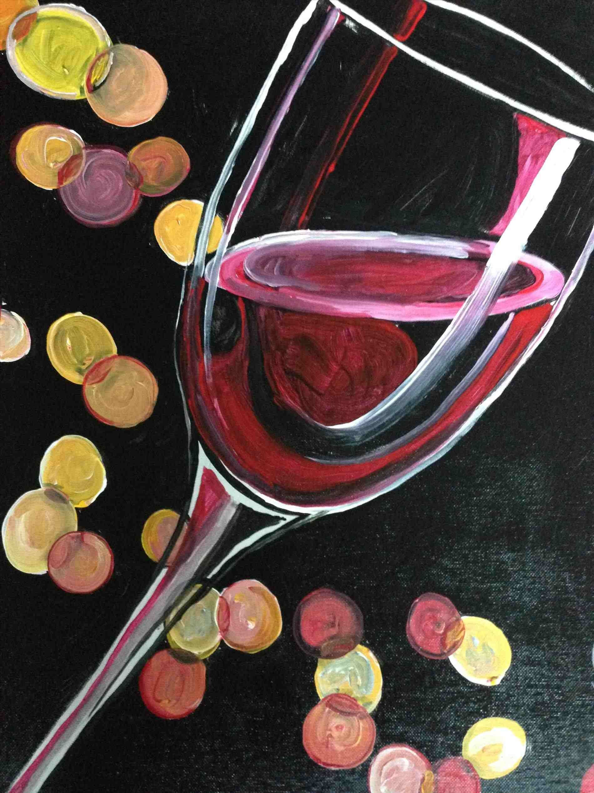 Wine Glass Canvas Painting - private party e2 80 93 wine glass ...