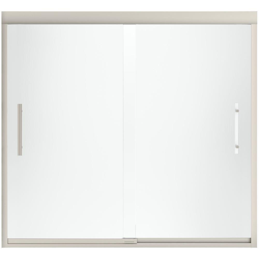 Sterling Finesse 59 58 In X 55 12 In Heavy Sliding Shower Door