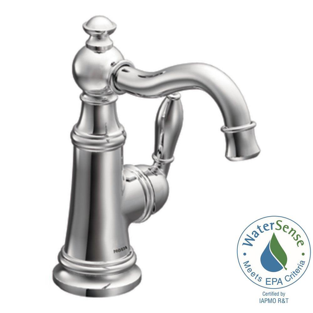 Moen Weymouth Single Hole High Arc Bathroom Faucet Faucet