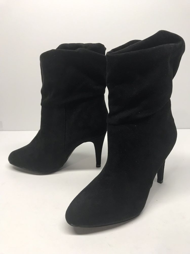 Boots, Black suede ankle boots, Suede