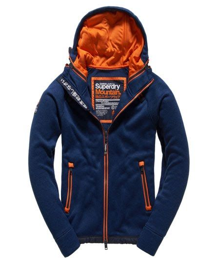 3e2b0706e220 Superdry Storm Double Zip Hoodie Navy | Human in 2019 | Mens navy ...