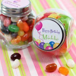 Personalized Birthday Mini Candy Jar Favor