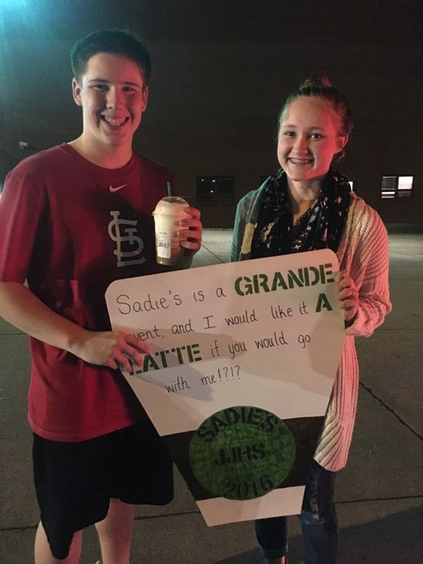 starbucks cute prom proposals pinterest starbucks promposal and homecoming. Black Bedroom Furniture Sets. Home Design Ideas