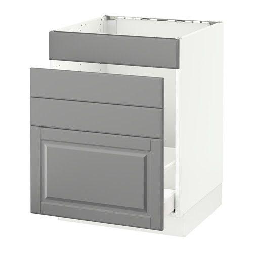 White Kitchen Cabinets Quality: SEKTION Base Cabinet F/sink & Waste Sorting