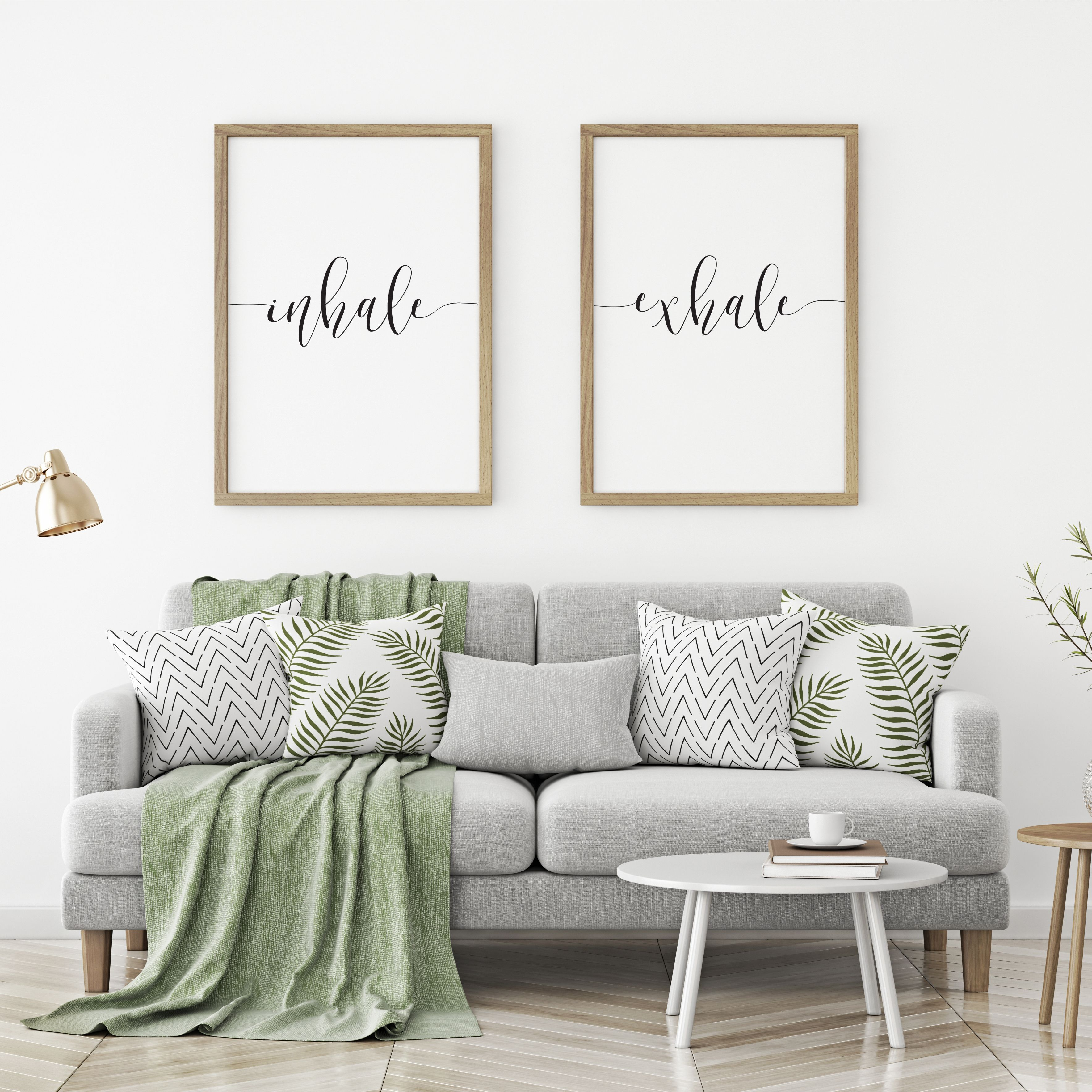 Inhale Exhale Matching Art Prints Large Bedroom Art Above Bed Art ...