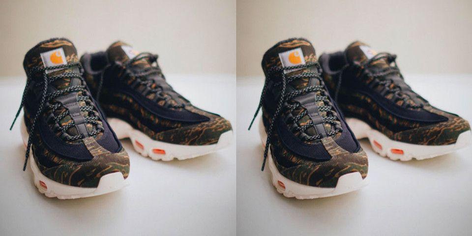 adbdd6d2d0da Take a First Look at the Carhartt x Nike Air Max 95  Dominated by camo.