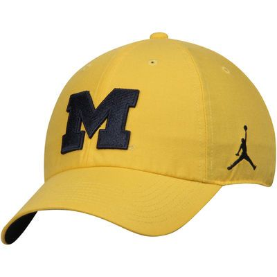 Brand Jordan Michigan Wolverines Maize Heritage 86 Authentic Adjustable  Performance Hat 3595c0d78a3a