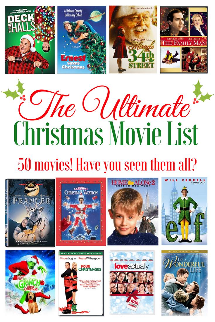 Ultimate Christmas Movie List The Latina Next Door Christmas Movies Christmas Movies List Ultimate Christmas