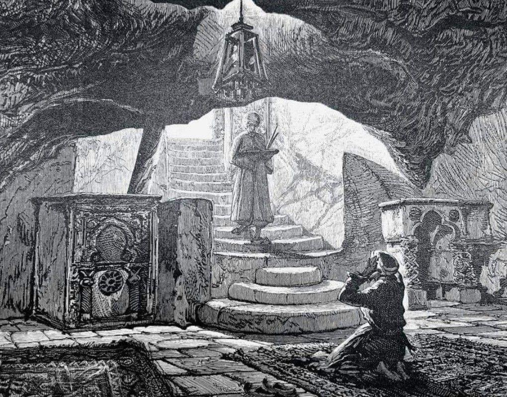 أقدم رسم أو تصوير لصخرة بيت المقدس داخل مسجد قبة الصخرة في الأقصى المبارك Art Painting